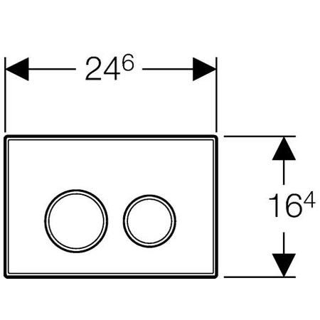 GEBERIT przycisk Sigma 20 biały/chrom/biały 115.778.KJ.1 eLZet