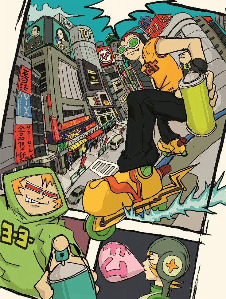 Artwork for Jet Set Radio on the SEGA Dreamcast.