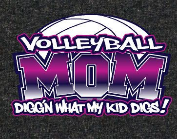 """Volleyball Mom Digs"" - Volleyball T-shirt by GymRatsVolleyball.com"