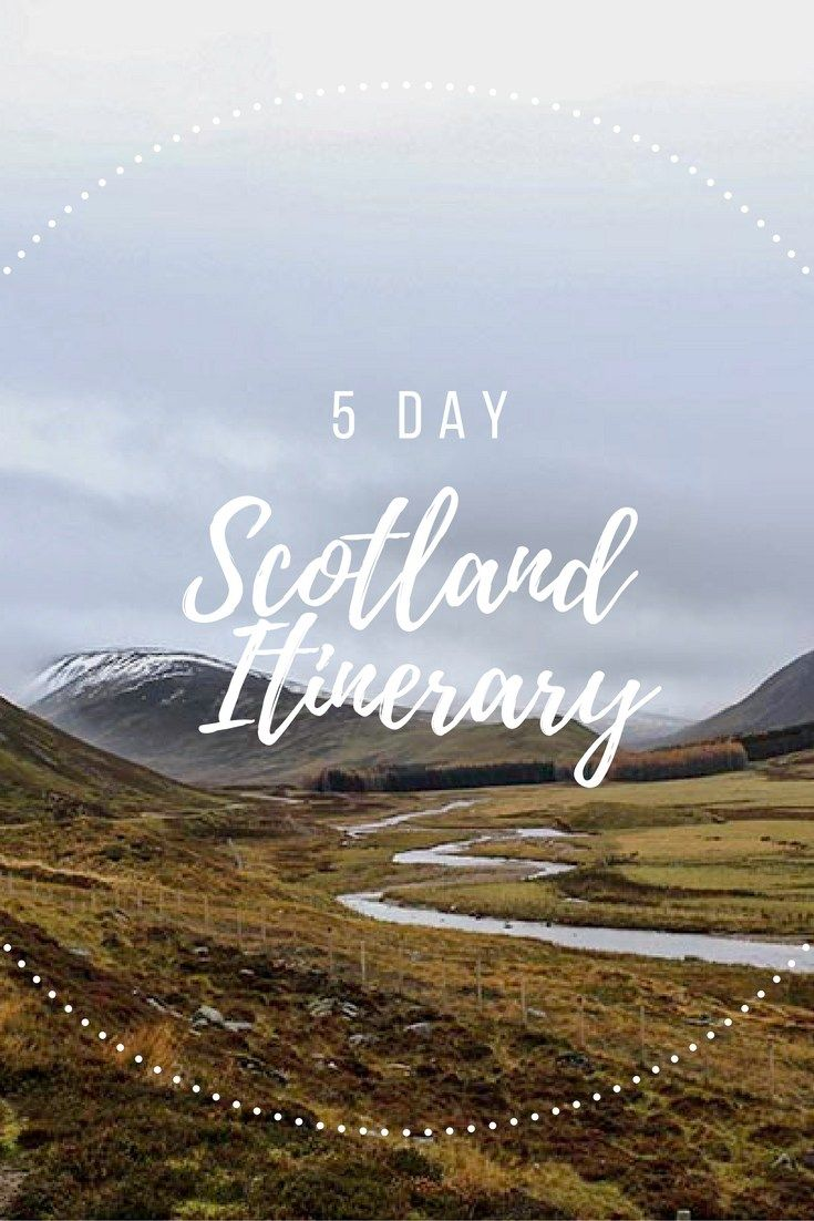 Keen for a wee road trip in the Highlands? Here is the 5 Day Scotland Itinerary - just right to taste some whisky and check what Outlander is all about.