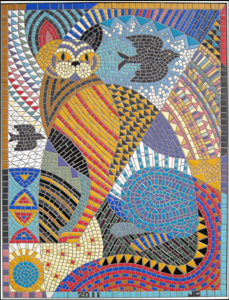 Jill Gussow Cat And Dog Mosaic Natural Pet Foods Tile