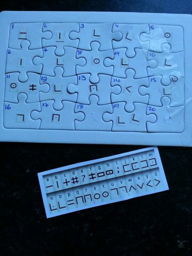 Kids spy party puzzle that leads to party bags at end