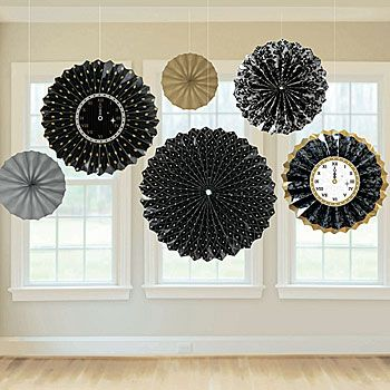 These New Year's Paper Fans are a great way to decorate your next holiday party or event. Each package contains six New Year's Paper Fan Decorations -8 inch, 12 inch and 16 inch.