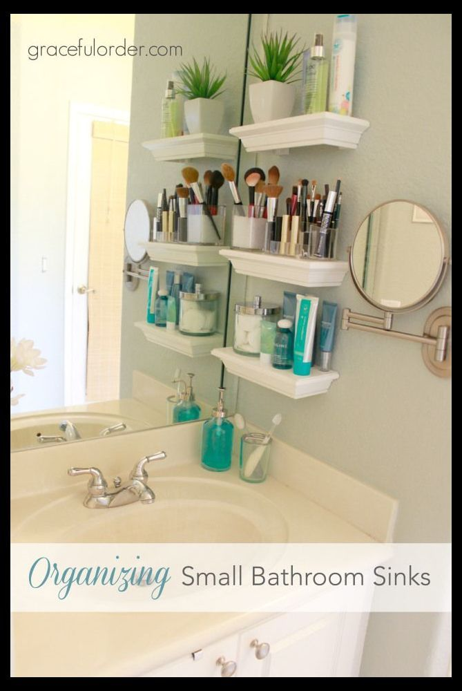 Pin On Small Bathrooms Small bathroom storage ideas and