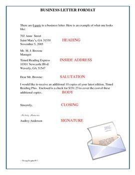 1000+ ideas about Business Letter Format on Pinterest   Letter ...