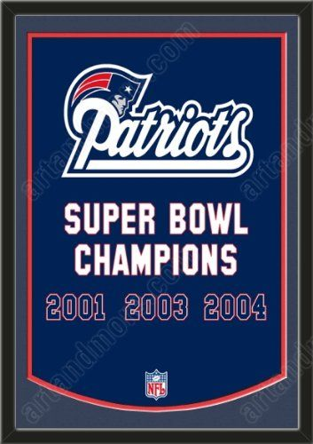 Dynasty Banner Of New England Patriots With Team Color Double Matting-Framed Awesome & Beautiful-Must For A Championship Team Fan! Most NFL Team Dynasty Banners Available-Plz Go Through Description & Mention In Gift Message If Need A different Team Art and More, Davenport, IA http://www.amazon.com/dp/B00FBBG6MO/ref=cm_sw_r_pi_dp_T8oJub16A433D