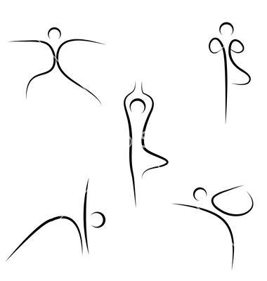 yoga pilates drawings sketch vectorstock drawing simple line vector doodle