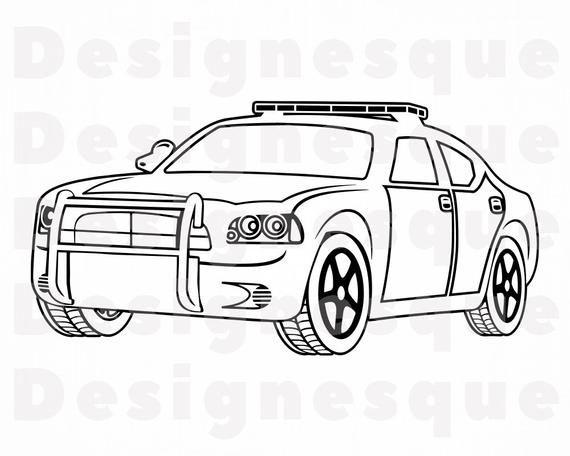 Police Car Outline 2 Svg Police Car Svg Police Svg Police Etsy Police Cars Police File Svg