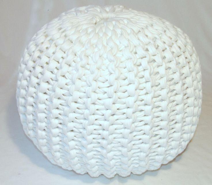 Pattern knitted pouf | LVLY