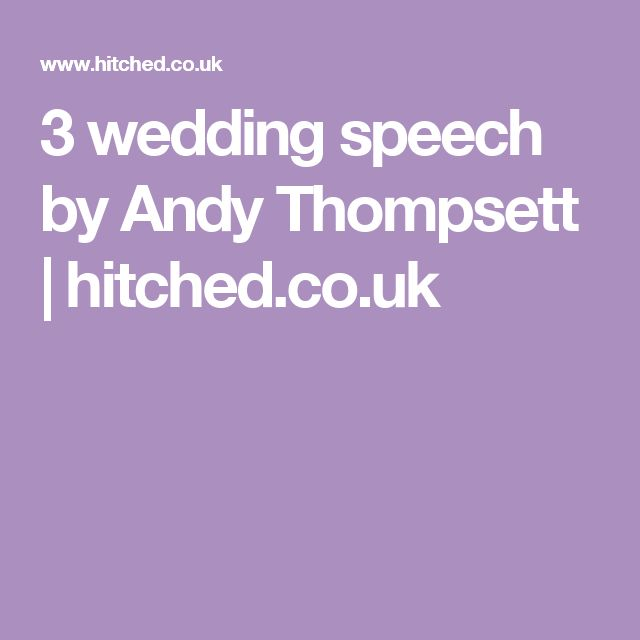 17 Best Ideas About Groom Speech Examples On Pinterest