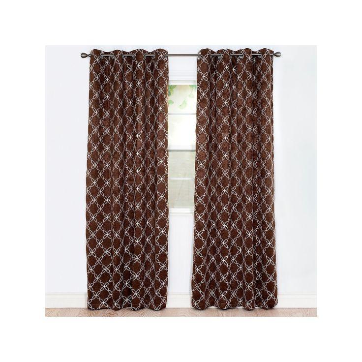 Portsmouth Home 2-pack Myra Room Darkening Curtain, Brown