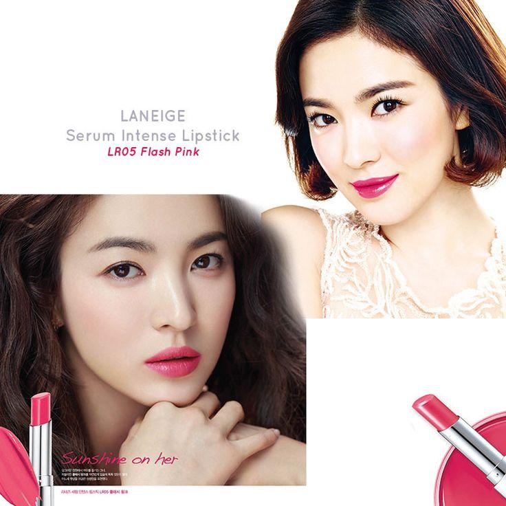 LANEIGE Serum Intense Lipstick Song Hye Kyo and Jeon Ji