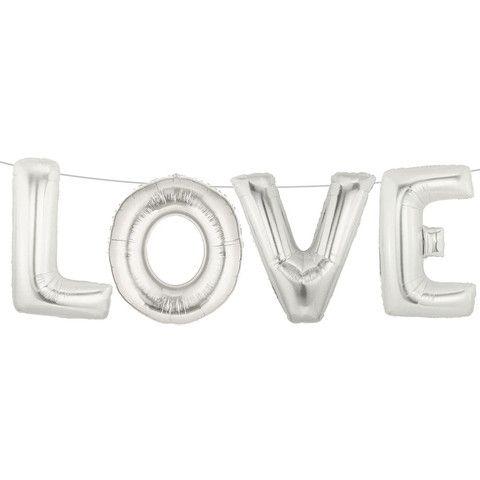 Love Silver Balloons