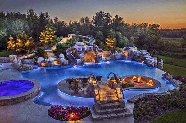 Top 40 Best Pool Landscaping Ideas Aesthetic Outdoor Retreats Dream Backyard Pool Backyard Pool Designs Cool Pools