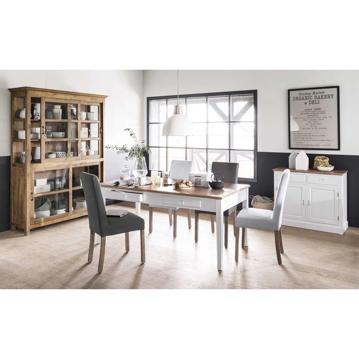 Tavolo per sala da pranzo in frassino e legno di paulonia L 180 cm | Maisons du Monde