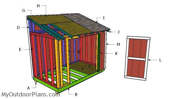 6 12 Lean To Shed Roof Plans Lean To Shed Shed Plans