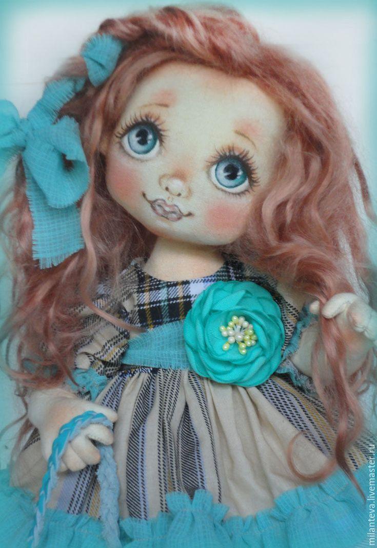 Купить Малышка для Лены. - бирюзовый, кукла ручной работы, кукла, кукла в подарок, кукла текстильная