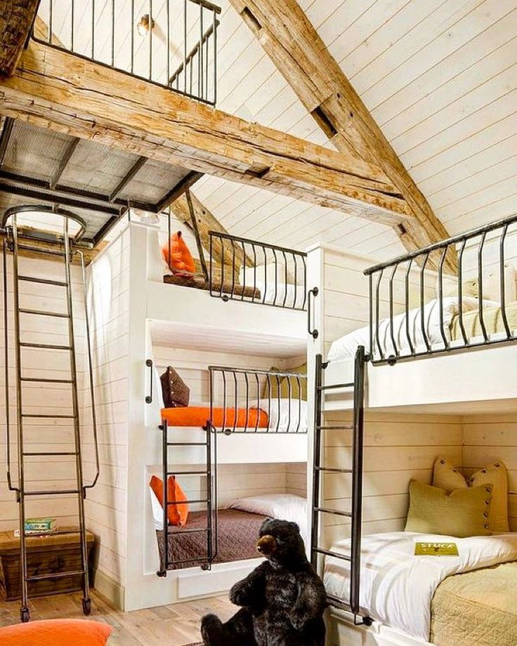 Coolest #bunkroom  #bedroomdesign ever! Two thumbs up to that creator!  by brighthappyliving