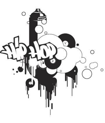 Hip Hop 1-Wall Decals