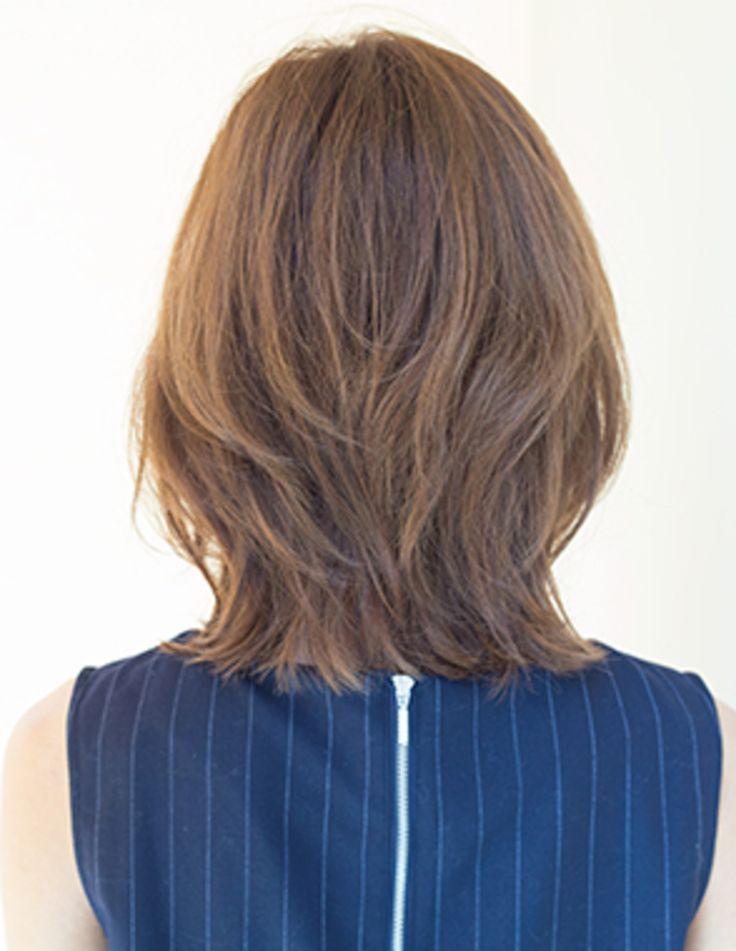 ちょいくびれミディ(YG-220) | ヘアカタログ・髪型・ヘアスタイル|AFLOAT(アフロート)表参道・銀座・名古屋の美容室・美容院