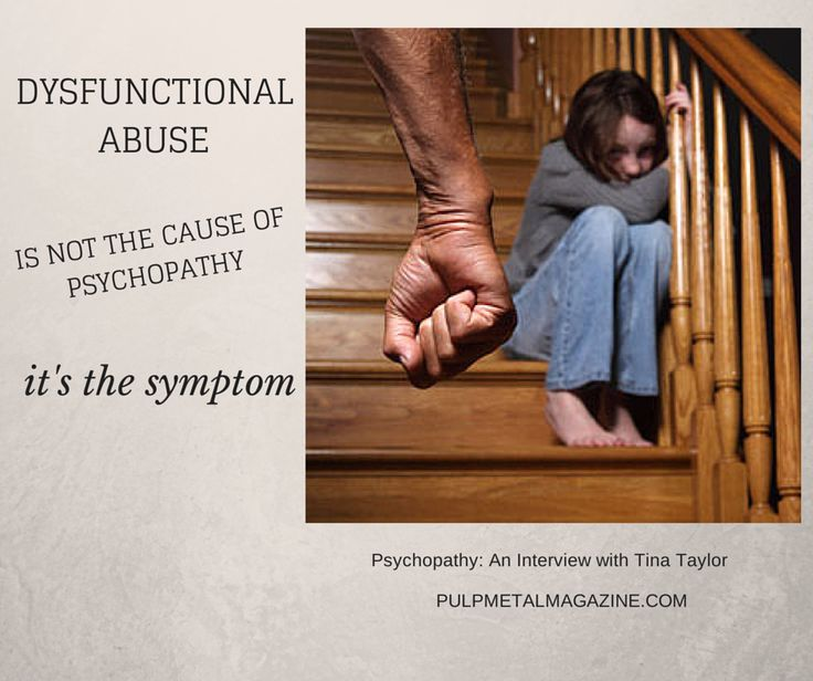 """Dysfunctional abuse is not the cause, but the symptom"" (of psychopathy). Interview with Tina Taylor, Pulp Metal Magazine"