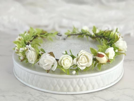 Flower Crown Flower Wreath Flower Crown Bridal Wreath Hair Etsy Flower Crown Flower Wreath Hair Bridal Wreath