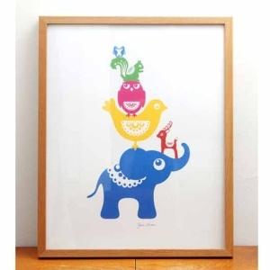 En blå elefant, en gul fågel och en rosa uggla. Vad kan bli bättre? Från houseofhedda.com