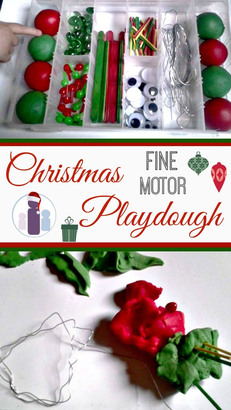 Christmas fine motor playdough kit!