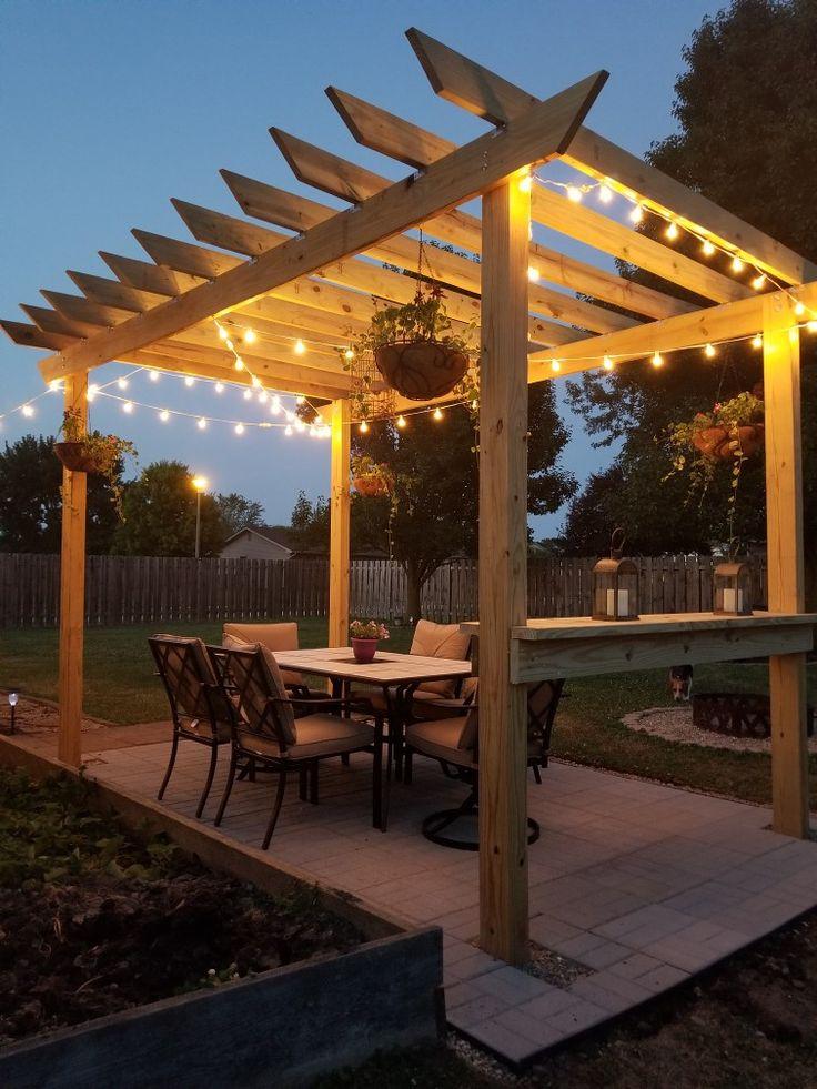 Pergola decor ideas. Pergola, Outdoor structures, Back patio