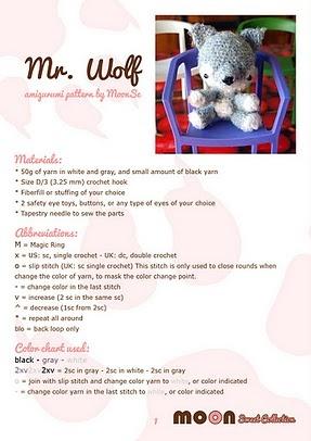 Amigurumi Wolf Free Pattern : Cute Mr. Wolf pattern and tutorial ( free). #crochet #wolf ...