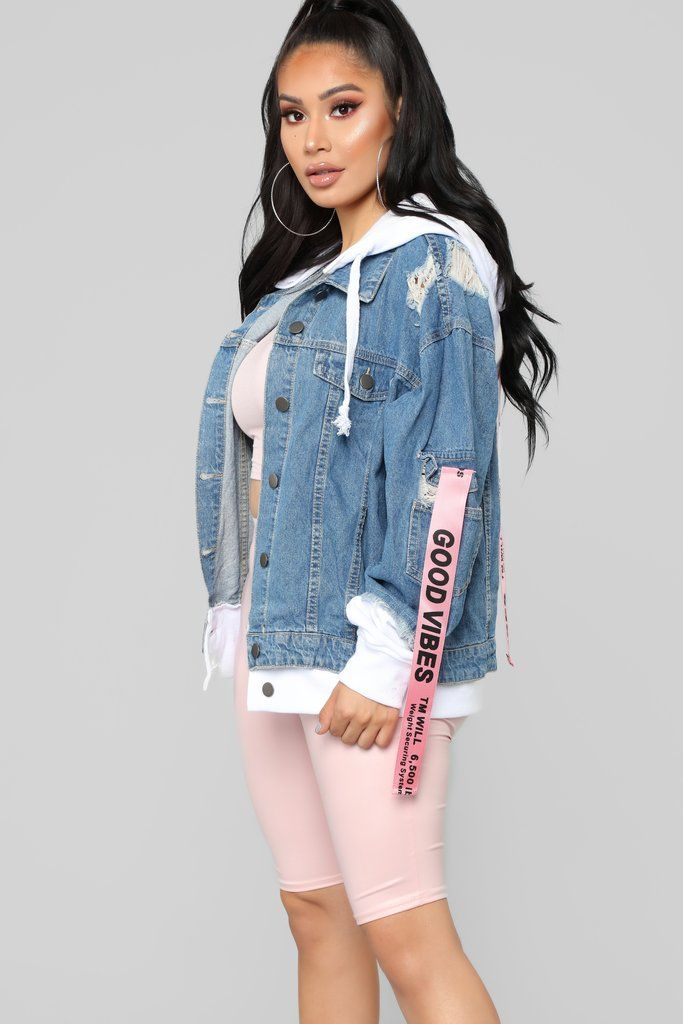 d086332d72c0 LA State Of Mind Denim Jacket - Medium Blue Wash | Fashion Nova ...