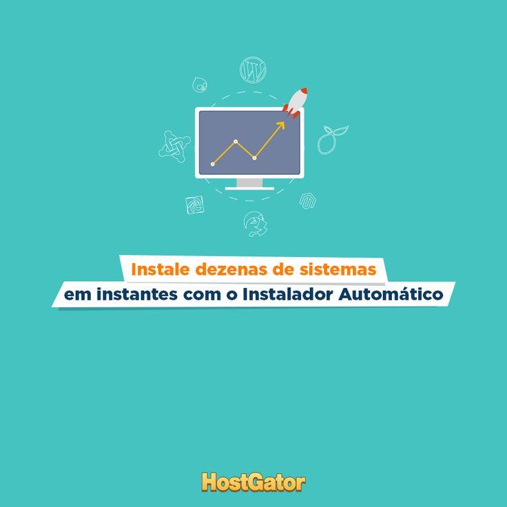O Instalador Automático é um facilitador para instalar sistemas com apenas alguns cliques. Venha conhecer o novo instalador Softaculos, disponível no cPanel da HostGator