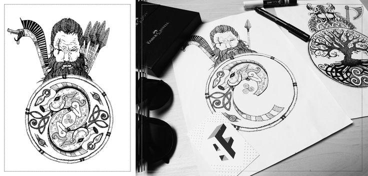 Celtic warrior tattoo #tattoo #celtic #mythologie