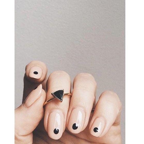 PERFECTION. Both the ring (@bingbangnyc!) and the mani. Love love love. #oliveyourmani #regram