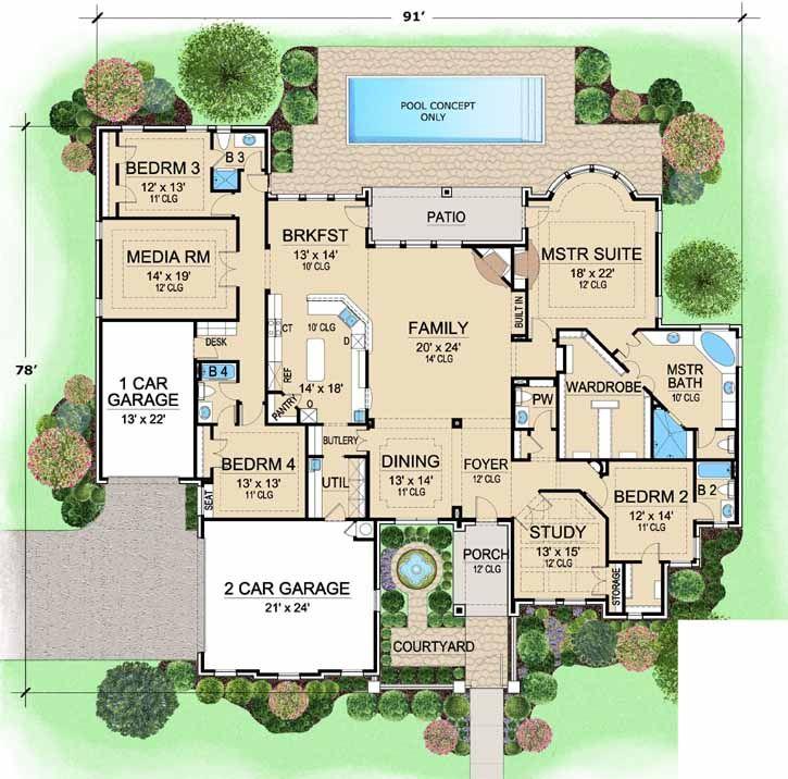 5333 best dream home images on pinterest | house floor plans