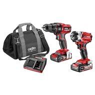 Ozito Power X Change 18V Cordless Drill Driver And Impact Drill - 2 Piece
