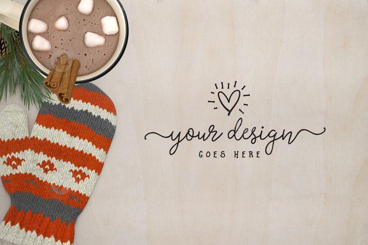 Winter Christmas Styled Desktop by Garlic Friday Design on @creativemarket