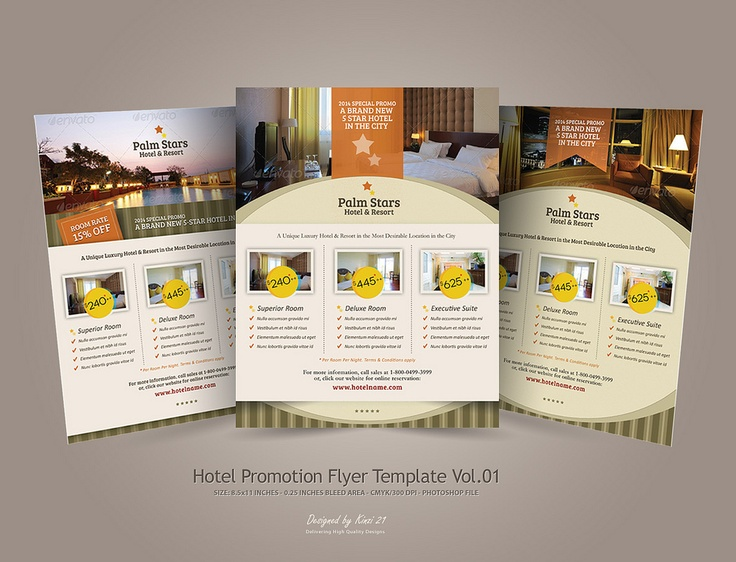 Hotel promotion flyer promotions pinterest promotion for Hotel brochure design templates