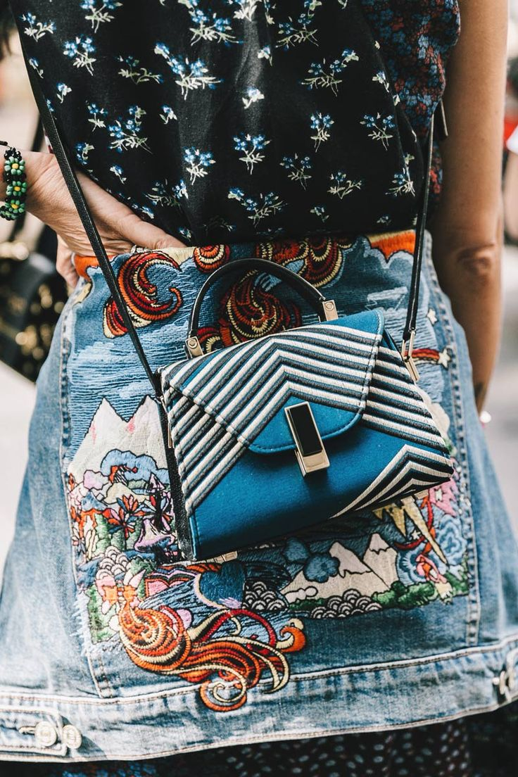 Street Style_eclectic pattern patching for statements in embroidery, print & colour || Saved by Gabby Fincham ||