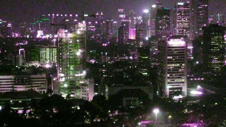 Night view from Monas, Jakarta