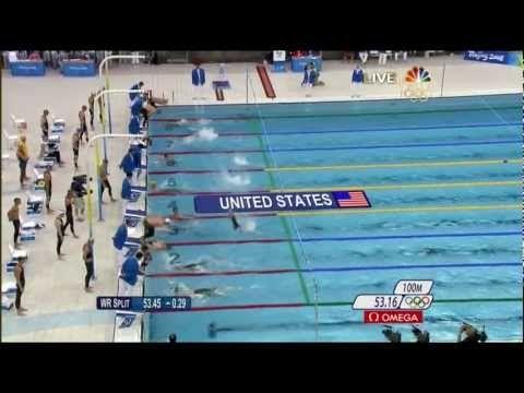 Michael Phelps 8th Gold 2008 Beijing Olympics Swimming Men's 4 x 100m Me...