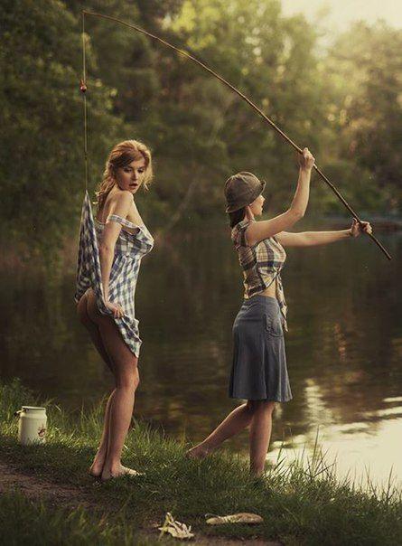 Женская рыбалка - занимательное занятие. - Поиск в Google