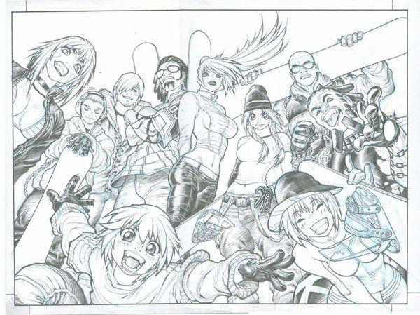 Fan Art - Character Line Up - SSX 3    Amazing stuff!