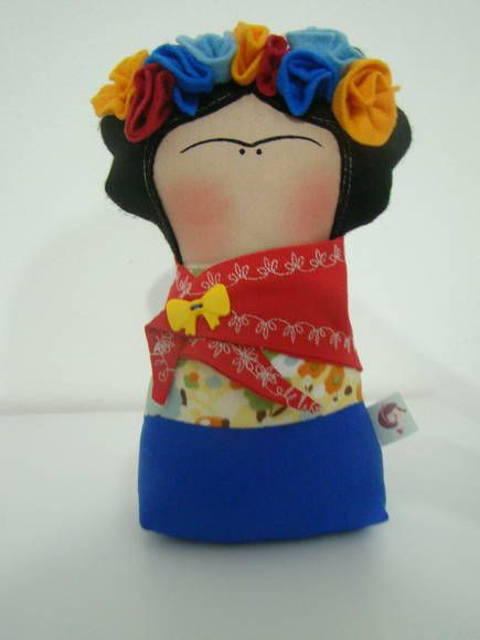 This furious little Frida is made by Day Doll.