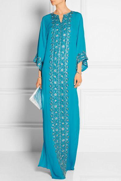 Oscar de la Renta | Embellished silk-chiffon gown | NET-A-PORTER.COM