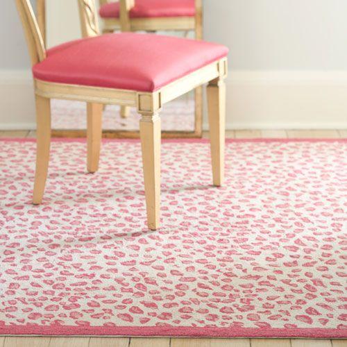 Leopard Pink Rug from #PoshTots.  #leopard #pink #rug #girls: Pink Rugs, Leopards Rugs, Albert Rugs, Pink Leopards, Leopards Pink, Hooks Rugs, Girls Bathroom, Hooks Leopards, Girls Rooms