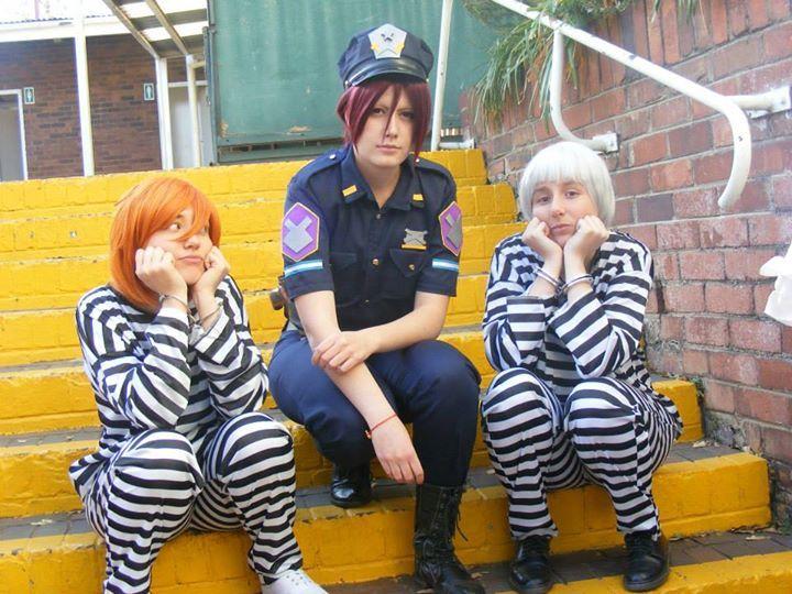Free! Future Fish cosplay Momotarou with Rin and Nitori