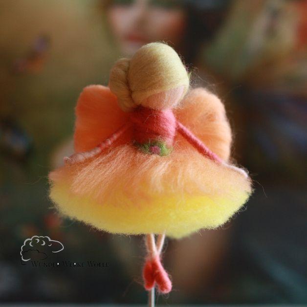 Schutzengel - Fee aus Märchenwolle - Ballerina - Elfe - ein Designerstück von fischersfilze bei DaWanda