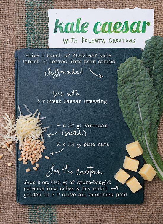 Kale Caesar Salad + The Forest Feast Cookbook Giveaway | BHG Delish Dish