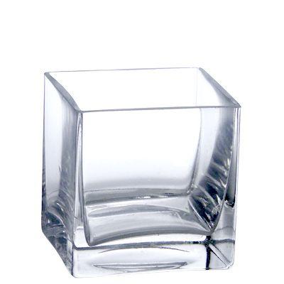 "Bulk 4"" Square Vases   Wholesale Square Vases  Set of 12 $36.50  Reg $59.99"